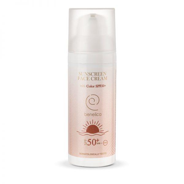 Benelica Sunscreen Face Cream 50SPF with Color Dispenser