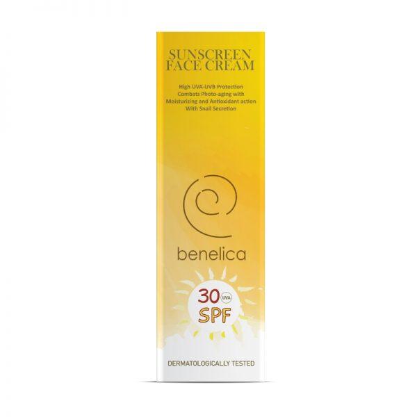 Benelica Sunscreen Face Cream 30SPF Outer ENG