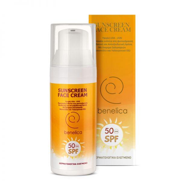 Benelica Sunscreen Face Cream 50SPF
