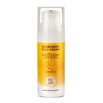 Benelica Sunscreen Face Cream 50SPF Dispenser